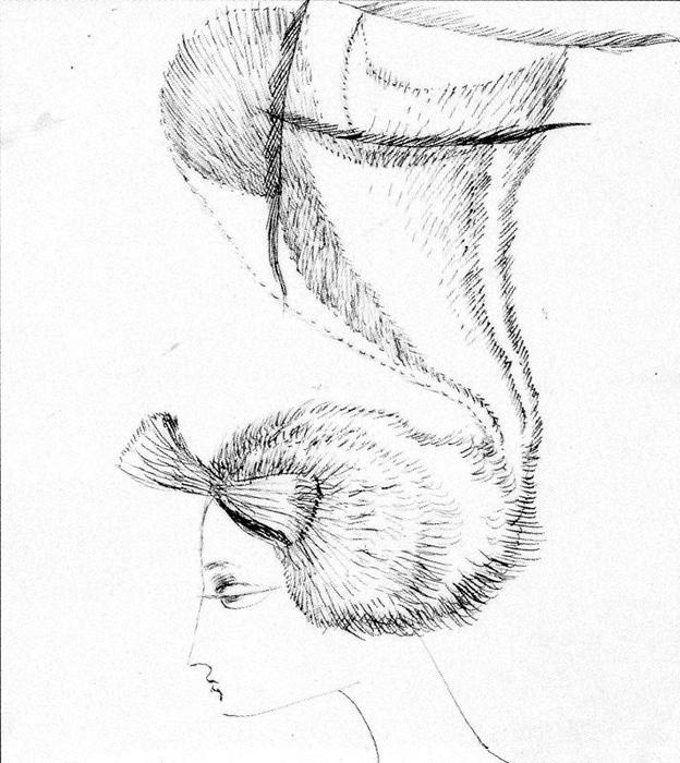 手绘现代美女带帽