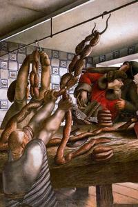 Stanley Spencer - 香肠店