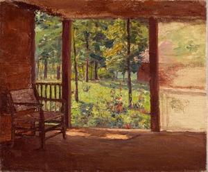 Theodore Clement Steele - a  查看  从 `porch`