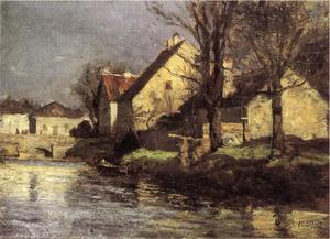 Theodore Clement Steele - 运河,Schlessheim