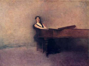 Thomas Wilmer Dewing -  的 钢琴