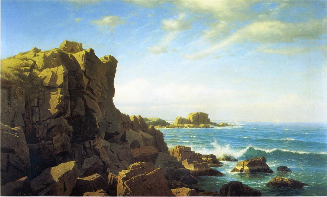 顺序 幀畫冊專輯 : Nahant岩 通过 William Stanley Haseltine (1835-1900, United States) | WahooArt.com