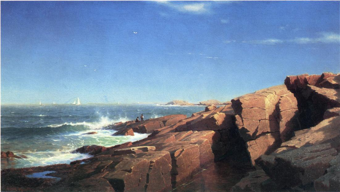 岩石Nahant 通过 William Stanley Haseltine (1835-1900, United States) | 幀畫冊專輯 | WahooArt.com
