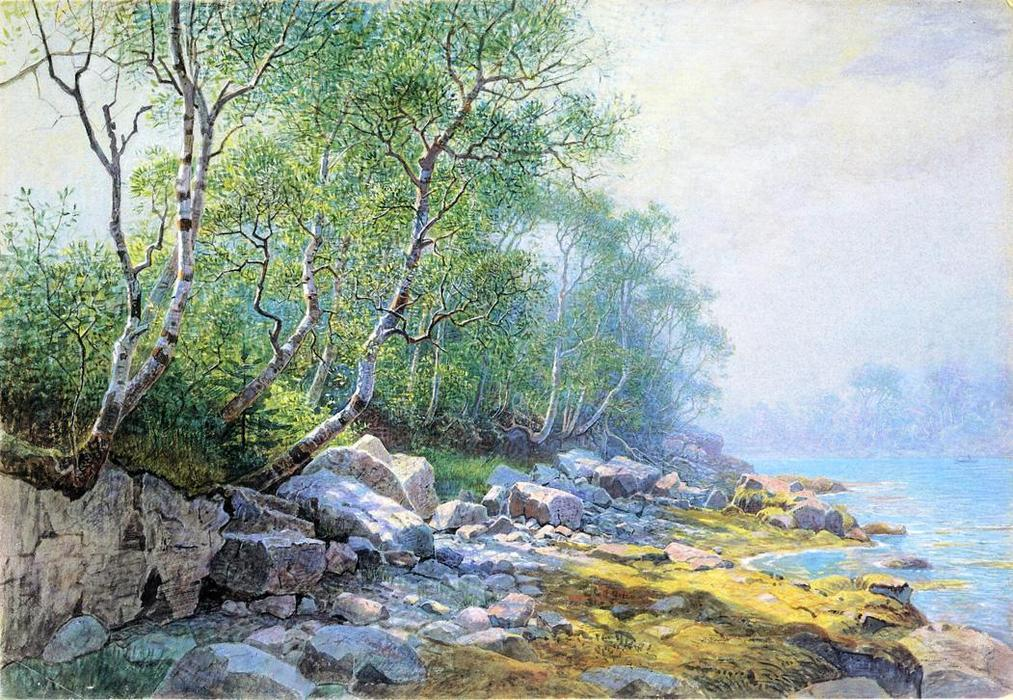 锡尔港,沙漠山,缅因州 通过 William Stanley Haseltine (1835-1900, United States) | 畫再現 | WahooArt.com