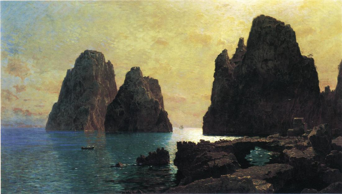 Faraglioni岩石 通过 William Stanley Haseltine (1835-1900, United States) | 手工畫 | WahooArt.com