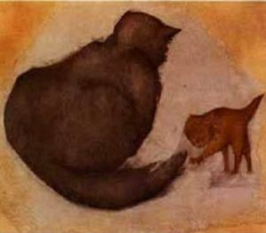 Edward Coley Burne-Jones - 猫和小猫