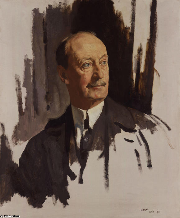 查尔斯哈挺,彭斯赫斯特的第1位男爵哈挺 通过 William Newenham Montague Orpen (1878-1931, Ireland)