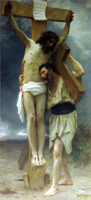 同情, 1897 通过 William Adolphe Bouguereau (1825-1905, France) | 幀畫冊專輯 | WahooArt.com