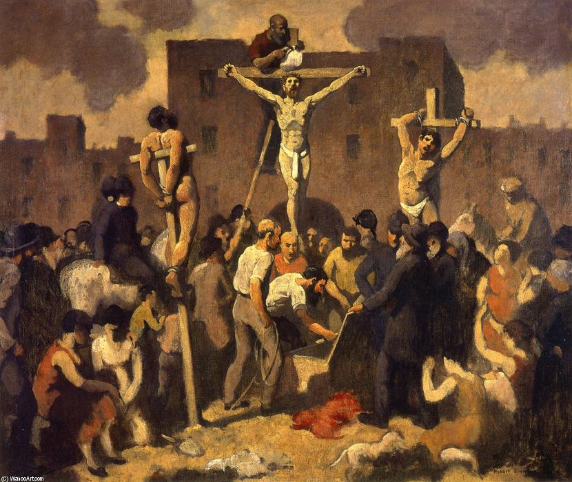耶稣被钉十字架, 油画