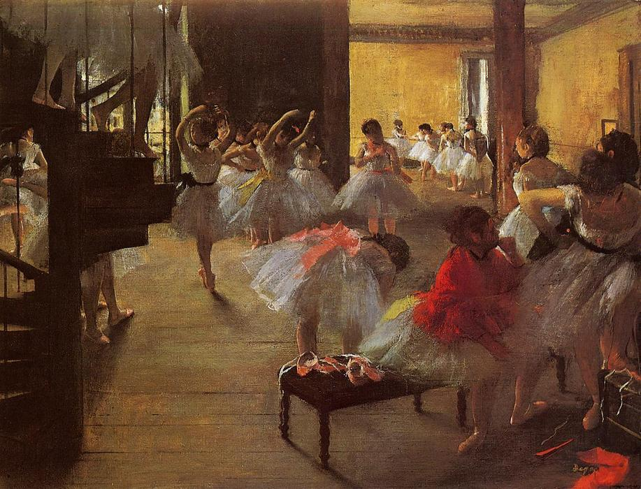 歌舞类, 1873 通过 Edgar Degas (1834-1917, France) | 畫複製 Edgar Degas | WahooArt.com
