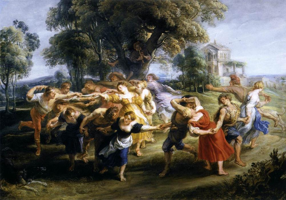 意大利村民的舞蹈, 1636 通过 Peter Paul Rubens (1577-1640, Germany) | 油畫 Peter Paul Rubens | WahooArt.com