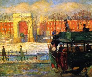 William James Glackens - 从总线降