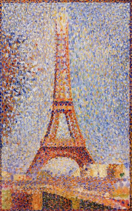 艾菲尔 塔 , 油 通过 Georges Pierre Seurat (1859-1891, France)