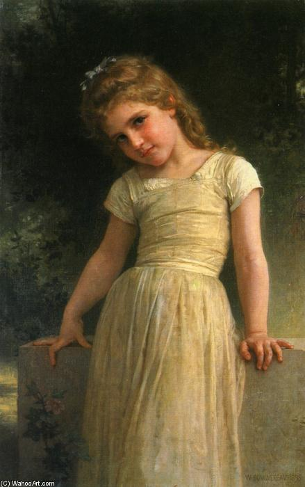 Elpieglerie, 1895 通过 William Adolphe Bouguereau (1825-1905, France) | 幀畫冊專輯 | WahooArt.com