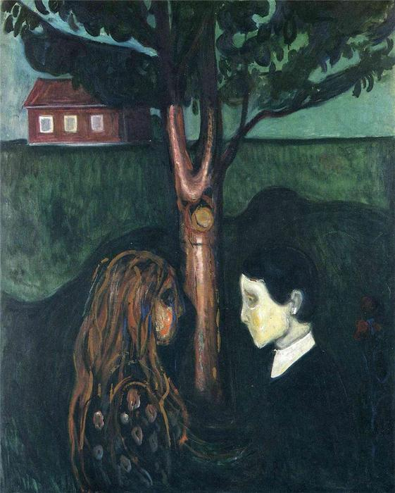眼 在  眼, 油画 通过 Edvard Munch (1863-1944, United Kingdoms Of Sweden And Norway)