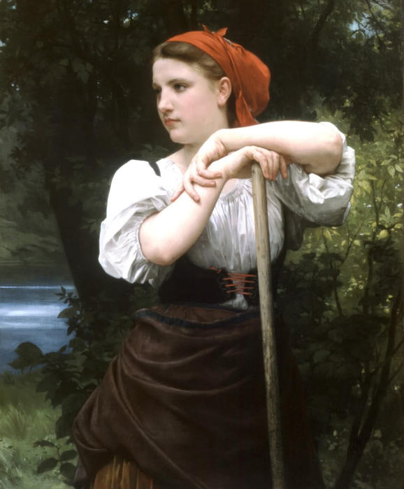 Faneuse, 1869 通过 William Adolphe Bouguereau (1825-1905, France) | 幀打印 | WahooArt.com