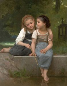 William Adolphe Bouguereau - 钓青蛙