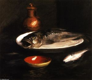 William Merritt Chase - 鱼静物