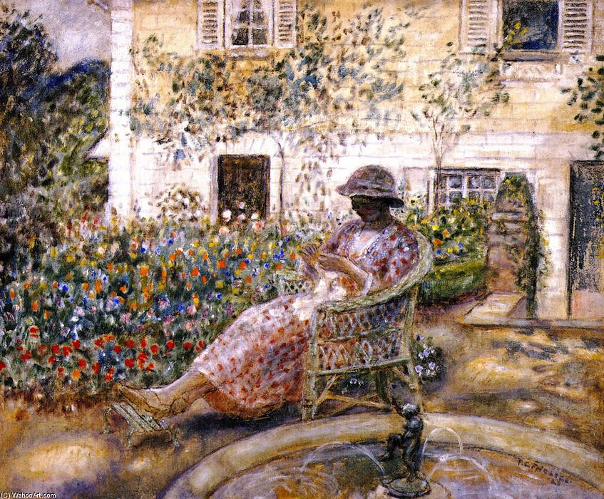 的 喷泉, 1923 通过 Frederick Carl Frieseke (1874-1939, United States) | 畫複製 Frederick Carl Frieseke | WahooArt.com