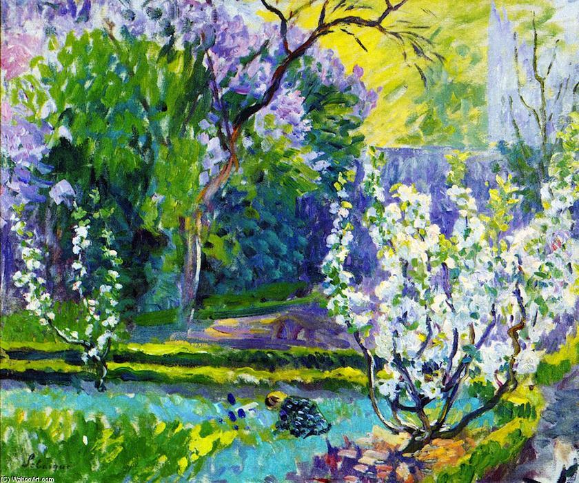 春天的花园, 油画 通过