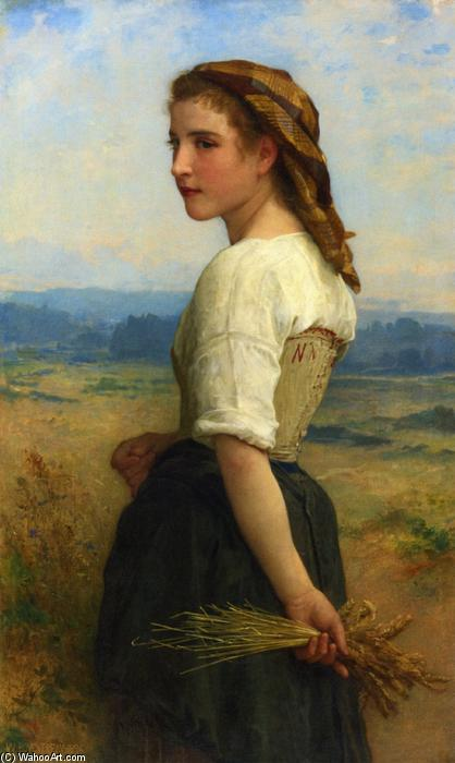 拾穗, 油画 通过 William Adolphe Bouguereau (1825-1905, France)