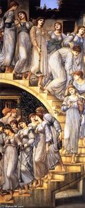 Edward Coley Burne-Jones - 黄金楼梯 ( 也被称为 'The King's Wedding' 或 'Music  上 Stairs' )