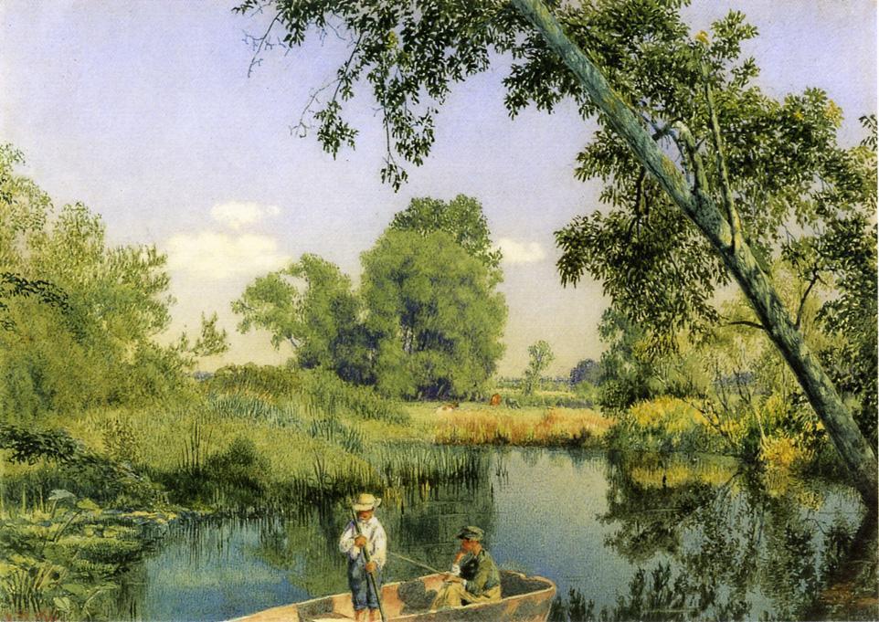 Omaž ribolovcu i ribolovu - Page 5 John-William-Hill-Gone-Fishing