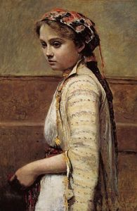 Jean Baptiste Camille Corot -  的  希腊  女孩