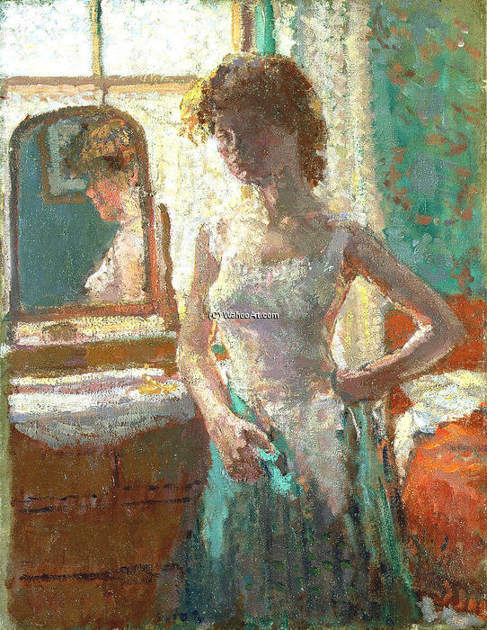 的  绿色  礼服, 1908 通过 Spencer Frederick Gore (1878-1914, United Kingdom) | WahooArt.com