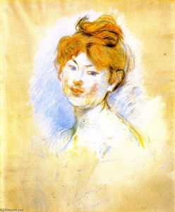 Berthe Morisot - 一个头 Red-Haired 女孩