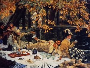 James Jacques Joseph Tissot - Holiday ( 也是已知的 as 野餐 )