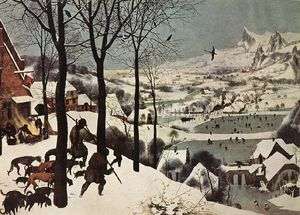 Pieter Bruegel The Elder - 在雪猎人(冬)
