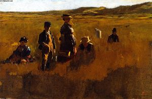 Jonathan Eastman Johnson -  在 田地