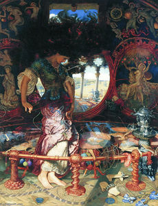 William Holman Hunt - Shalott的夫人