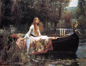 John William Waterhouse - 这位女士 的  夏洛特