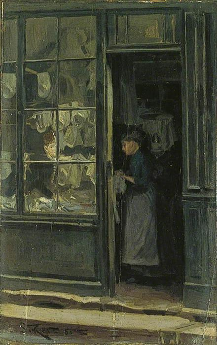顺序 畫複製 | 洗衣店, 1885 通过 Walter Richard Sickert (1860-1942, Germany) | WahooArt.com