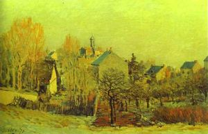 Alfred Sisley - 霜 在  louveciennes