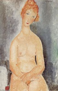 Amedeo Modigliani -  坐在 裸体