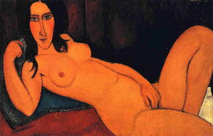 Amedeo Modigliani - 斜倚裸体