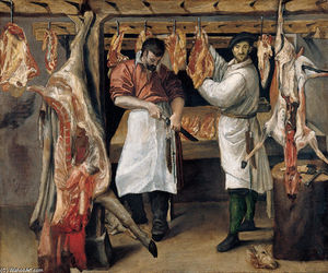 Annibale Carracci - 的 Butcher`s 店