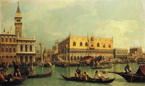 Giovanni Antonio Canal (Canaletto) - Piazzetand 公爵 小号 Palace起价 该班西诺 迪 圣马可