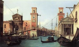 Giovanni Antonio Canal (Canaletto) - 视图 入口  到  的  兵工厂