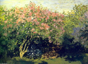 Claude Monet - `lilacs`  在  阳光