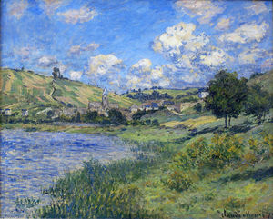 Claude Monet - Vetheuil,指数Paysage