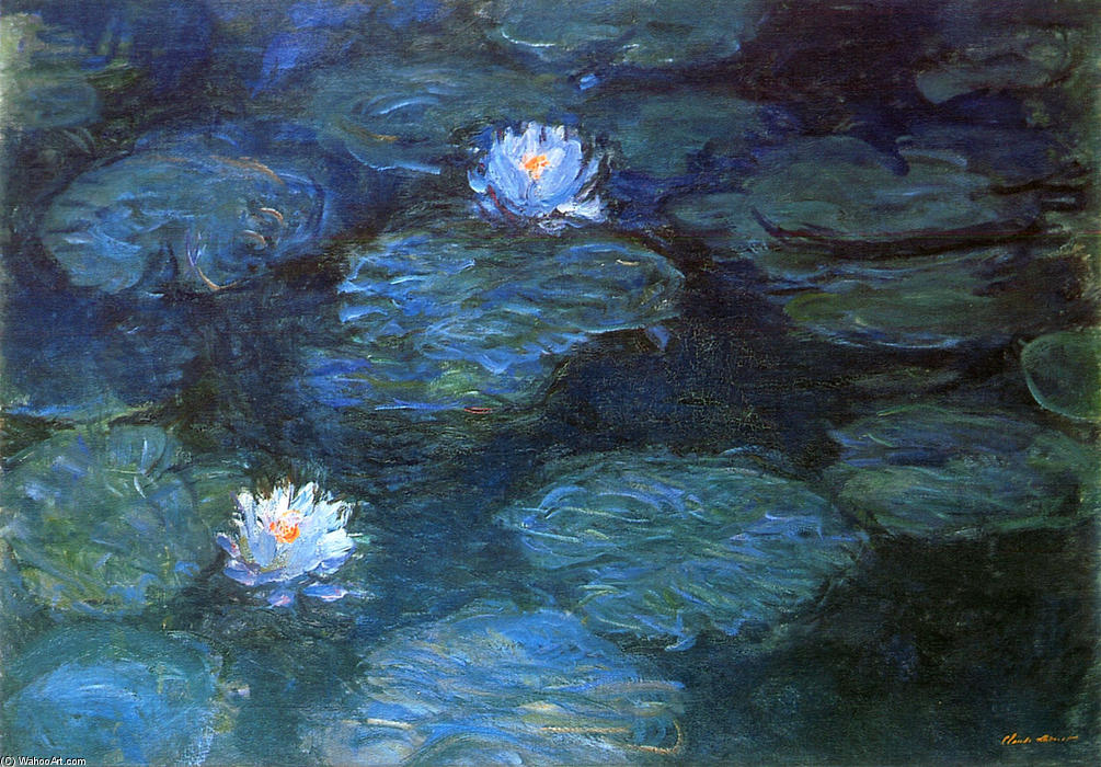 顺序 藝術再現 | 睡莲, 1899 通过 Claude Monet (1840-1926, France) | WahooArt.com