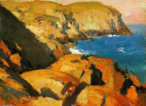 Edward Hopper - 黑头,Monhegan