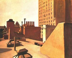 Edward Hopper - 市 屋顶