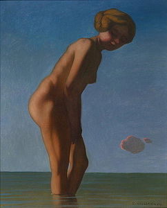 Felix Vallotton -  沐浴者 `looked`  到  正确的