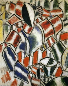 Fernand Leger - 该Sitted女人