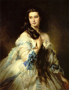 Franz Xaver Winterhalter - 芭芭拉Dmitrievna Mergassov - 里姆斯基 - Korsakova